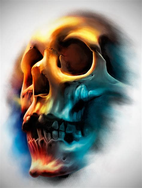 colored skull tattoo designs color skull by badfish1111 on deviantart