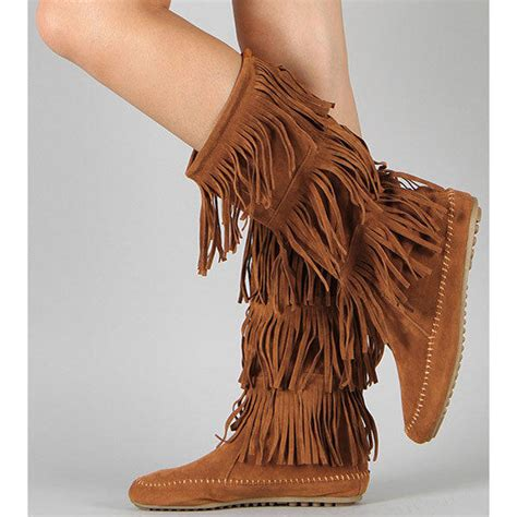 hippie boots hippie chickie brown fringe boots from amazing lace