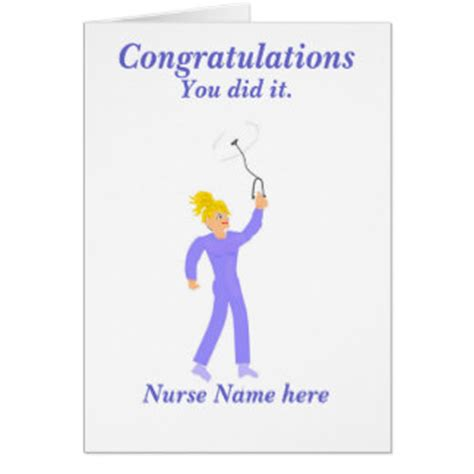 congratulations on nursing school congratulations nurse graduate cards zazzle