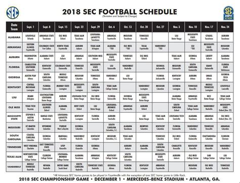 section 11 schedule sec lsu release football schedule for 2018 season the