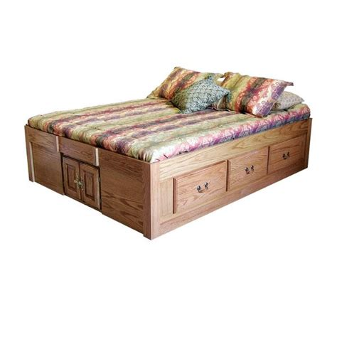 queen size bed with drawers fd 3021t traditional oak pedestal bed with 6 drawers