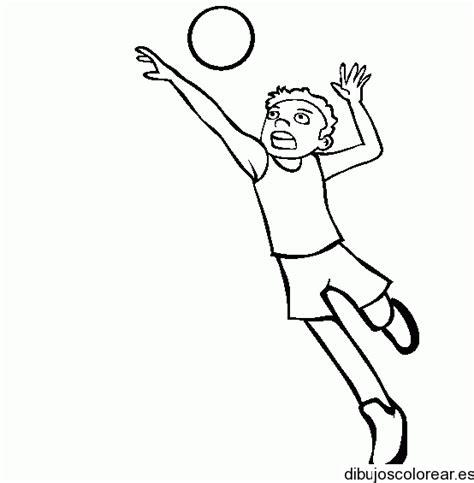 imagenes de voleibol para dibujar faciles dibujo de un joven jugando volleyball