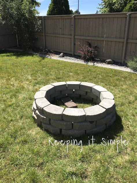 Keeping It Simple How To Build A Diy Fire Pit For Only 60 Build Firepit
