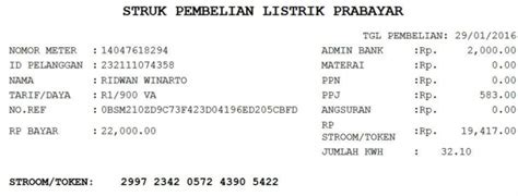 Printer Rekening Listrik aplikasi report cetak kertas struk ppob berikut
