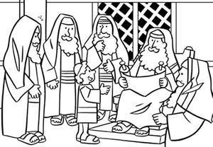 jesus clears the temple coloring page az coloring pages