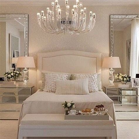 1000 ideas about mirror behind nightstand on pinterest pretty white bedroom with the large glass mirrors