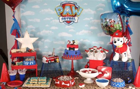 1st Birthday Decoration At Home by Paw Patrol Birthday Party Amidst The Chaos