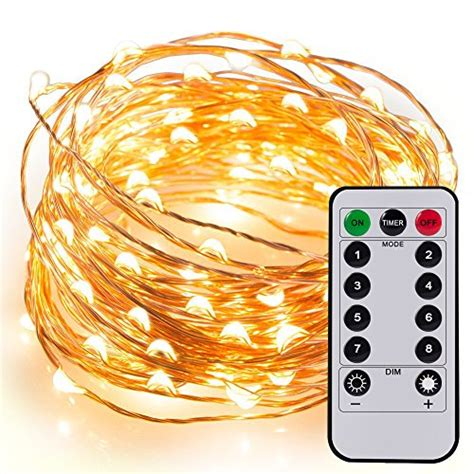 remote control battery operated christmas lights kohree 60leds fairy string lights with remote control aa