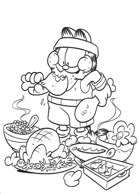 dessert coloring pages coloring page garfield desserts coloring me