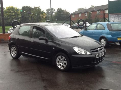 black peugeot peugeot 307 hdi black outside black country region sandwell