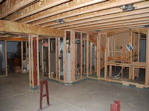 how to repair how to frame walls for basement wall