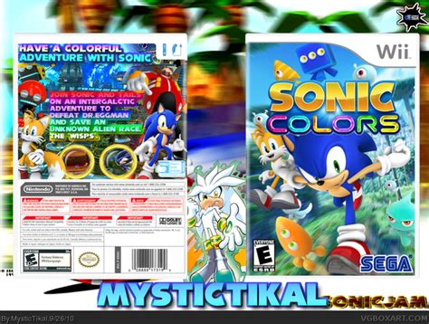 sonic colors wii sonic colors wii box cover by mystictikal