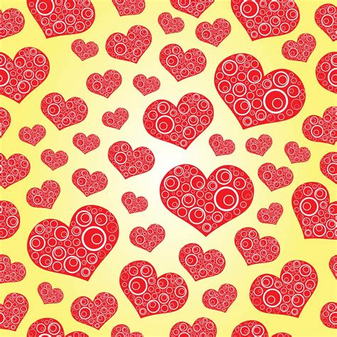 pattern heart vector free heart pattern