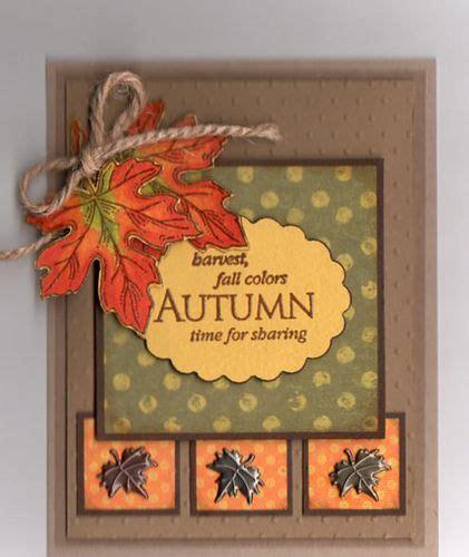 Handmade Thanksgiving Card Ideas - 25 best ideas about autumn cards on