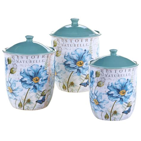 3 kitchen canister set certified international tuileries garden 3 canister