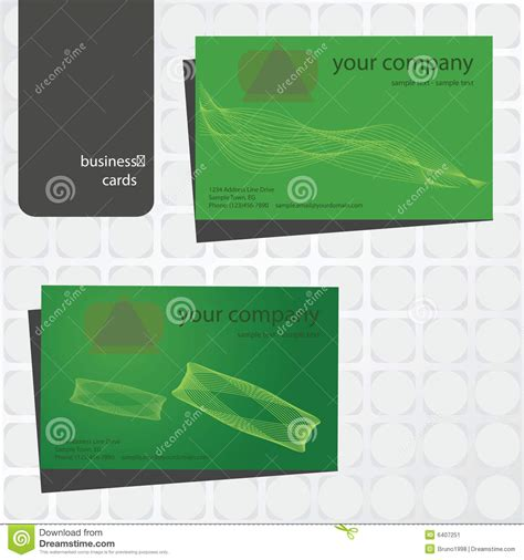 green card template green business card template stock image image 6407251