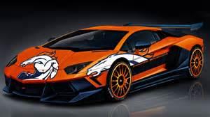 Lamborghini Of Denver Broncos Lamborghini By Denversportswalls On Deviantart