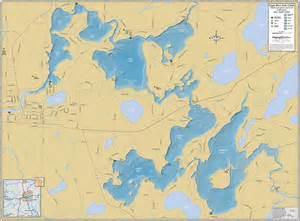 eagle lake canada map eagle river chain wall map