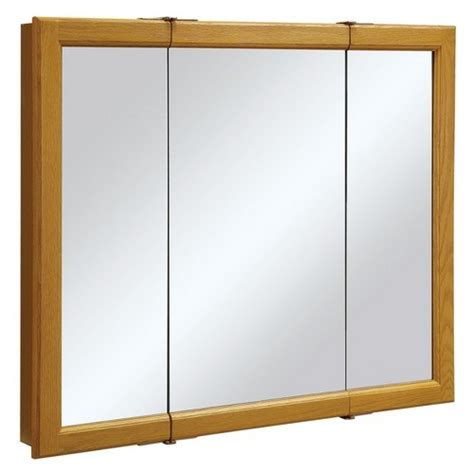 3 Door Medicine Cabinet Mirror Design House 545285 Claremont Honey Oak Tri View Medicine Cabinet Mirror With 3 Doors 36 Inches