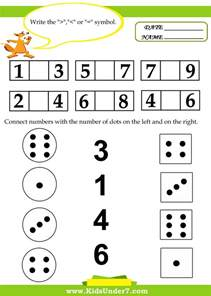 kids under 7 kids math worksheets