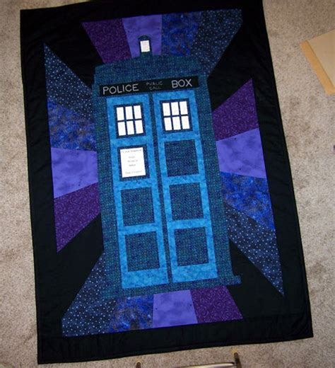 tardis quilt by ehyde on deviantart