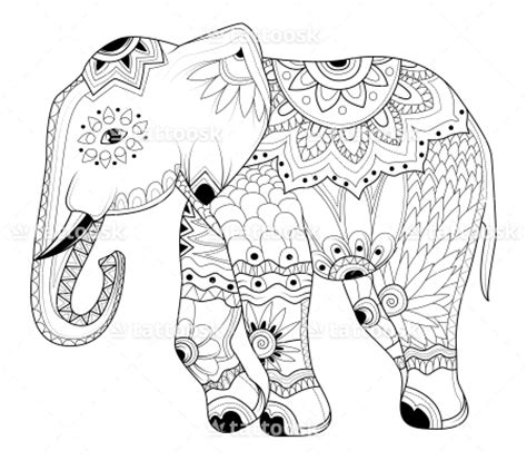elephant tattoo template indian elephant stencil www pixshark com images