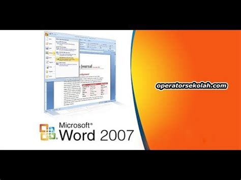 Youtube Tutorial Microsoft Word 2007 | tutorial microsoft word tahap 1 cara instal microsoft