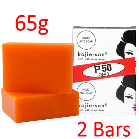 Kojie San Whitening Soap 135gr kojie san skin lightening kojic acid soap 2 bars 65g