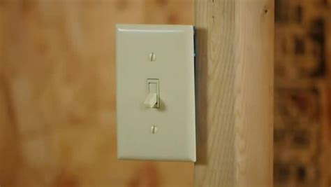 how to install a light switch to turn on a wall