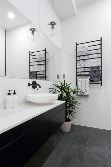 ideas  black white bathrooms  pinterest
