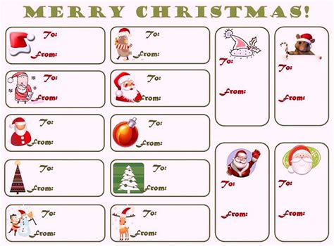 christmas html layout free printable tags templates gift tags template paper worksheets calendar