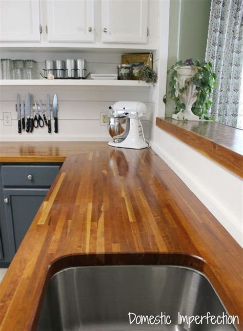My Butcher Block Countertops, Two Years Later   Two tone