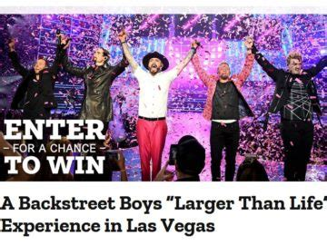 Southwest Airlines Las Vegas Giveaway - southwest backstreet boys larger than life experience in las vegas sweepstakes