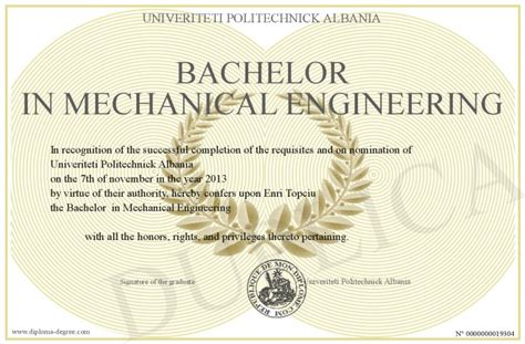 Bachelor S Degree In Mechanical Engineering With Mba Starting Salary by Bachelor In Mechanical Engineering