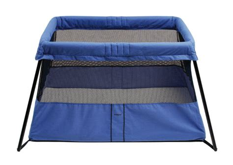 babybjorn travel crib 2 baby play yard bassinet blue