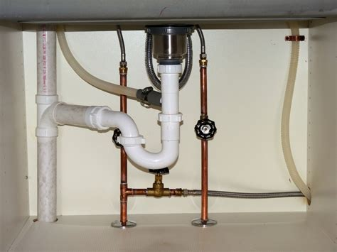 plumbing kitchen sink under sink plumbing