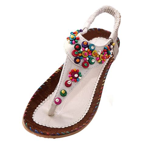 beaded ankle sandals 19q4 flat sandals ankle t fashion trend sandals