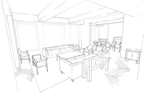draw a room online living room line drawing