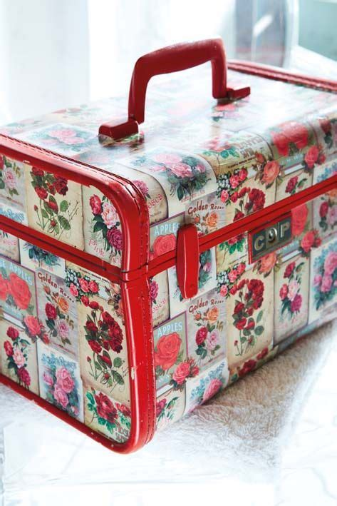 How To Decoupage A Suitcase - 684 best luggage images on suitcases