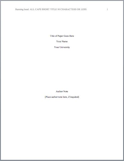 mla title page template apa format title page mla format regarding apa cover