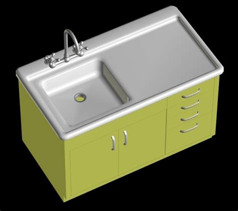 Kitchen Sink Old Style 3d Model Sharecg Kitchen Sink Model