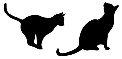 Home Decor Wall Clock by Cat Silhouette Wall Decals Hauspanther