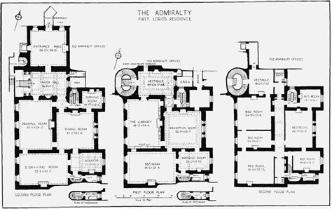 Plate 45 Admiralty House Plans Of Ground First And My House Blueprints Uk