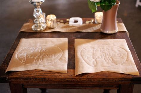Craft Paper Placemats - our 11 favorite wedding decor diys wine sisterhood