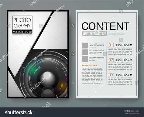 photography vector magazine modern flyers brochure stock