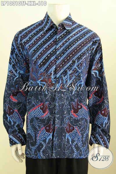 Kemeja Batik Lengan Panjang Bigsize batik kemeja lengan panjang big size busana batik premium furing eksklusif buat pria