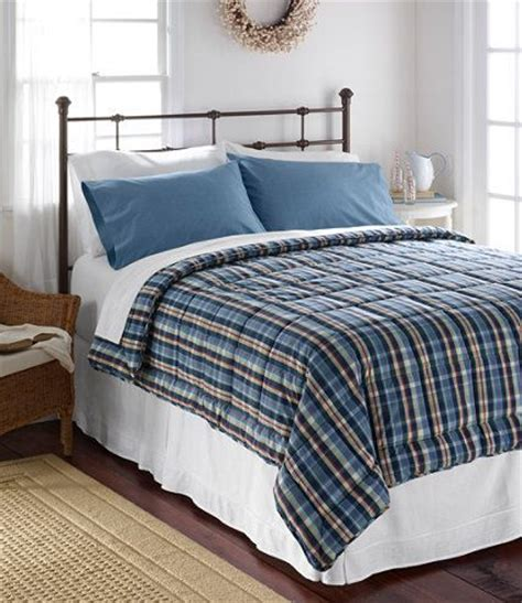 Ll Bean Bedding by Ultrasoft Cotton Comforter Plaid Comforters Free