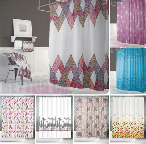 shower curtains 200cm length quality fabric extra long extra wide or narrow width