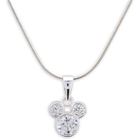 mickey mouse sterling silver necklace with pendant