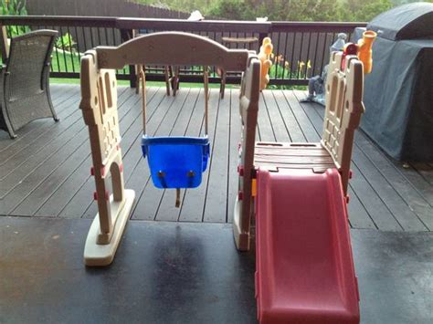 little tikes castle slide and swing little tikes endless adventures swing and slide for sale